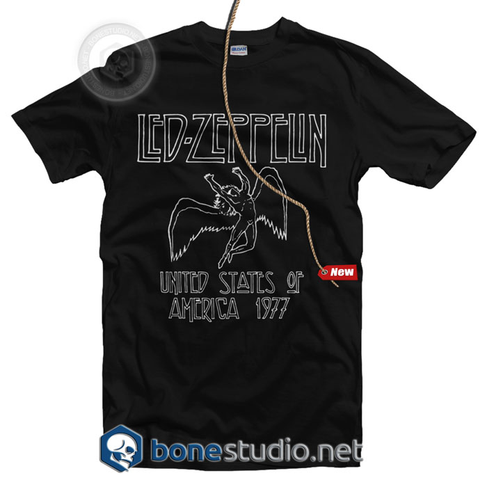 Led Zeppelin USA 1977 T Shirt
