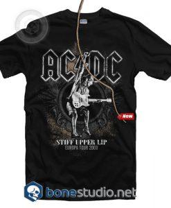 Stiff Upper Lip Europa Tour 2000 ACDC Band T Shirt