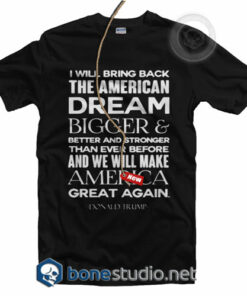 Donald Trump America Great Again T Shirt