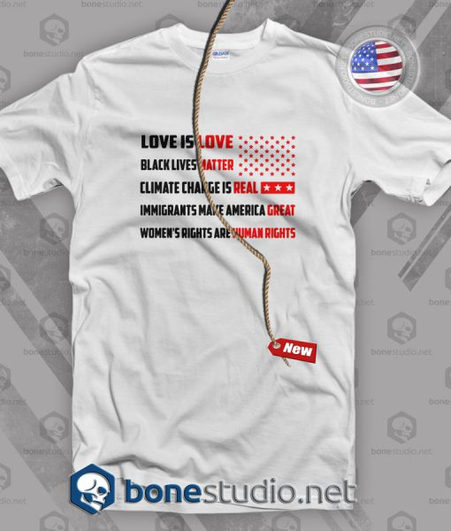 Love Is Love Black Lives Matter Climate Change Is Real T Shirt