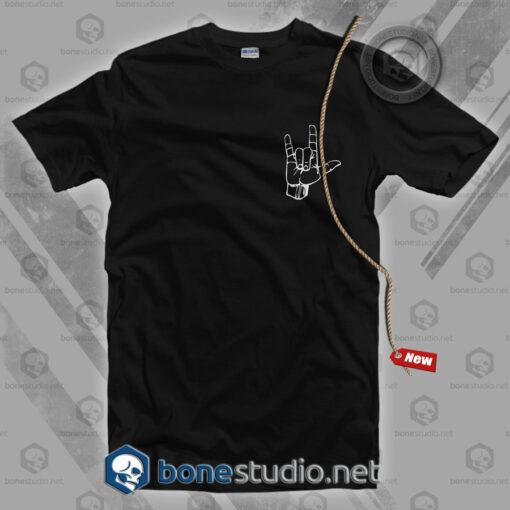 Rock Metal Hand Pocket Style T Shirt