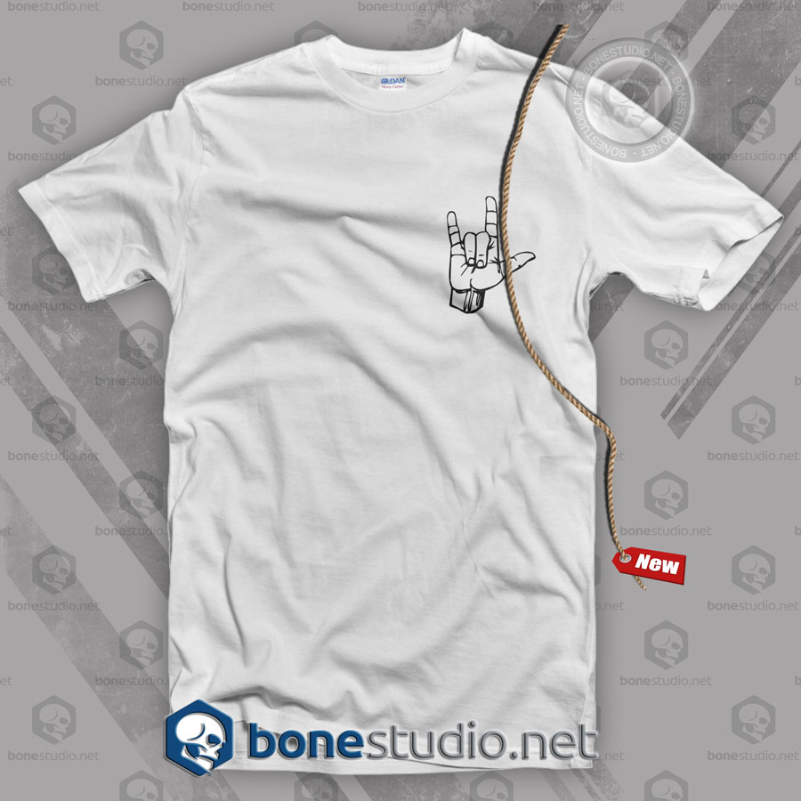 Rock Metal Hand Pocket Style T Shirt