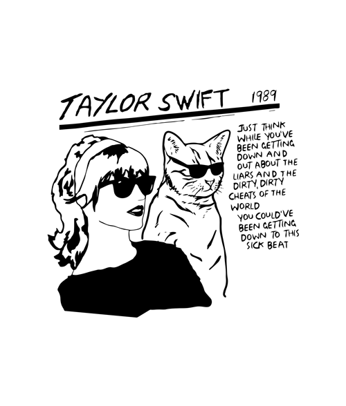 Taylor Swift Sonic Youth Style T Shirt