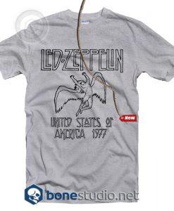 Led Zeppelin USA 1977 T Shirt