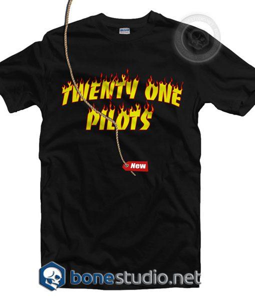 Flame Style Twenty One Pilots T Shirt