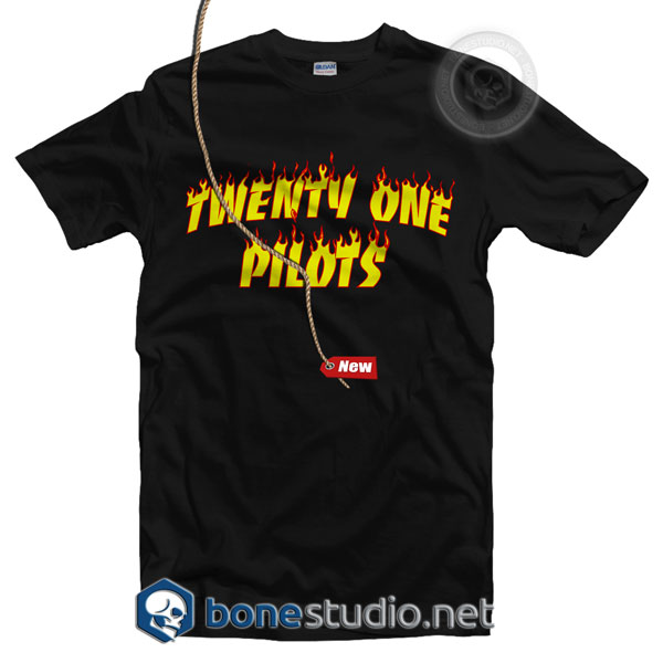 Flame Style Twenty One Pilots T Shirt