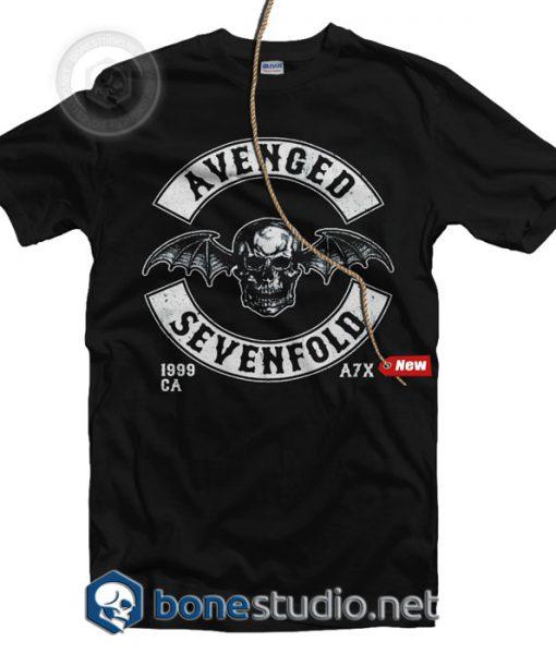 Avenged Sevenfold Deathbat Crest Band T Shirt