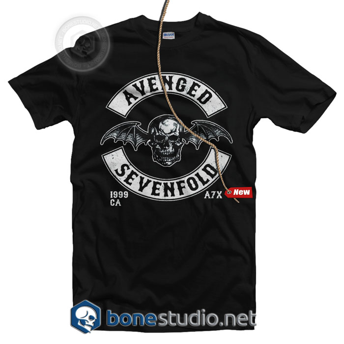 Avenged Sevenfold Deathbat Crest Band T Shirt