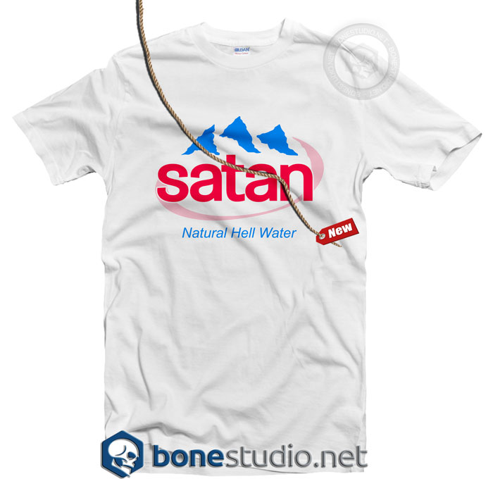 Satan T Shirt Natural Hell Water