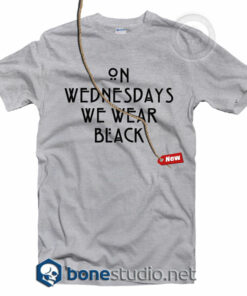 On Wednesdays We Wear Black T Shirt