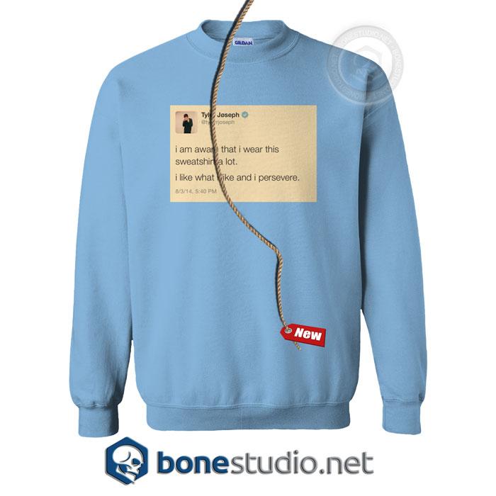 77eea5a1 Tyler Joseph Tweet Twenty One Pilots Sweatshirt,Tyler Joseph Tweet  Sweatshirt