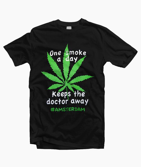 Amsterdam One Smoke A Day T Shirt