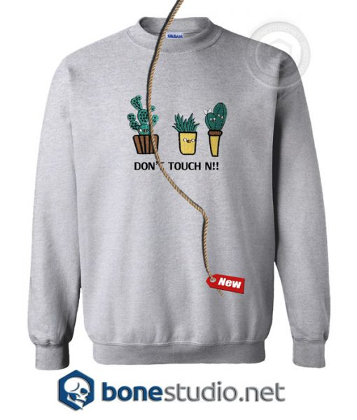 White Letter And Cactus Embroidered Style Sweatshirt