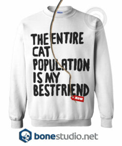 The Entire Cat Population is My Bestfriend Sweatshirt