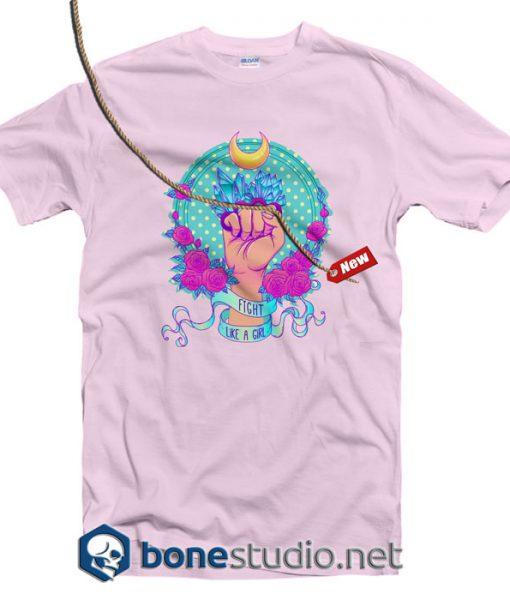 Fight Like A Girl Feminist T Shirt