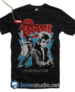 David Bowie 1972 World Tour T Shirt