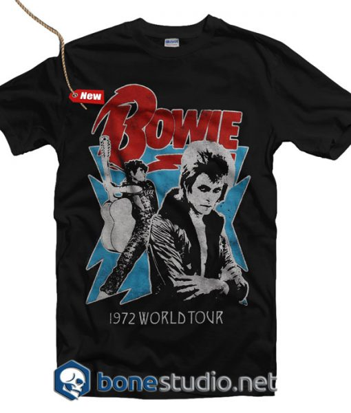 David Bowie 1972 World Tour T Shirt