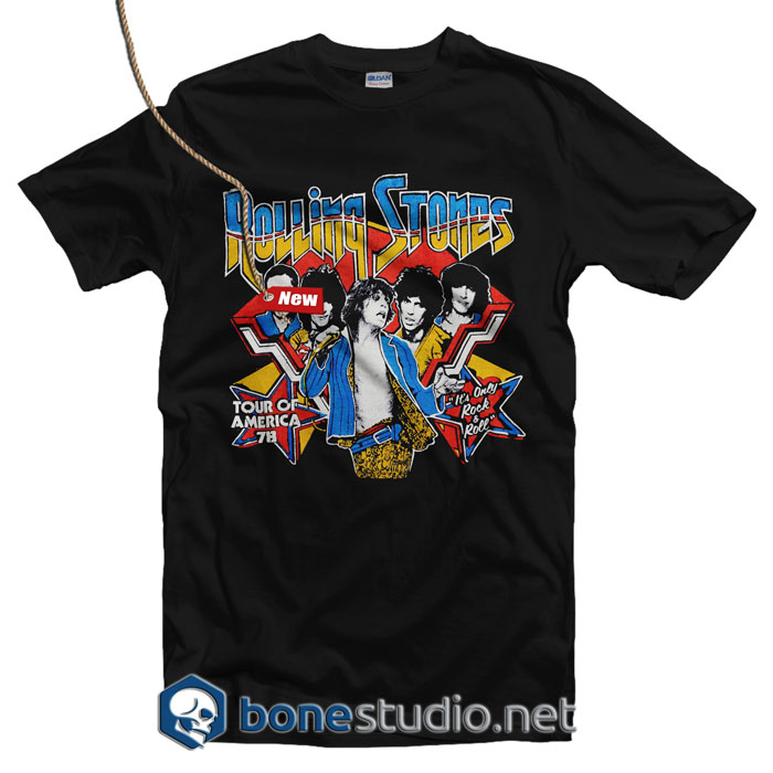 Rolling Stones 1974 It's Only Rock N Roll T Shirt