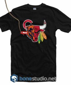 Chicago Sports Team Mashup T Shirt