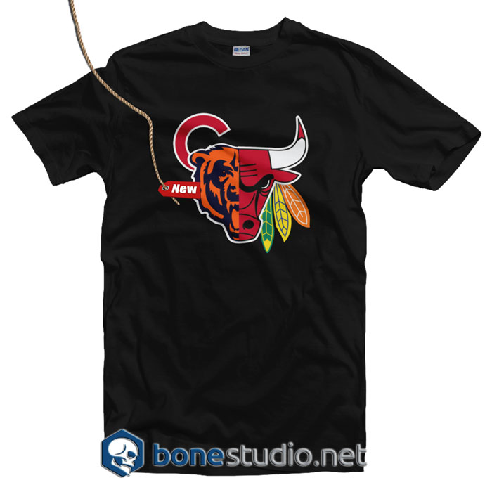 Chicago Sports Team Mashup T Shirt