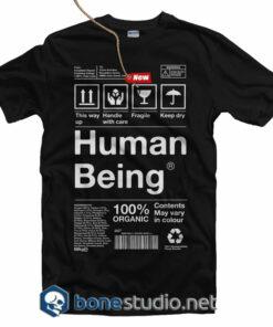 Human Being Organic T Shirt