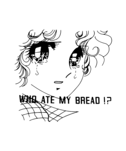 Who Ate My Bread Manga Girl T Shirt