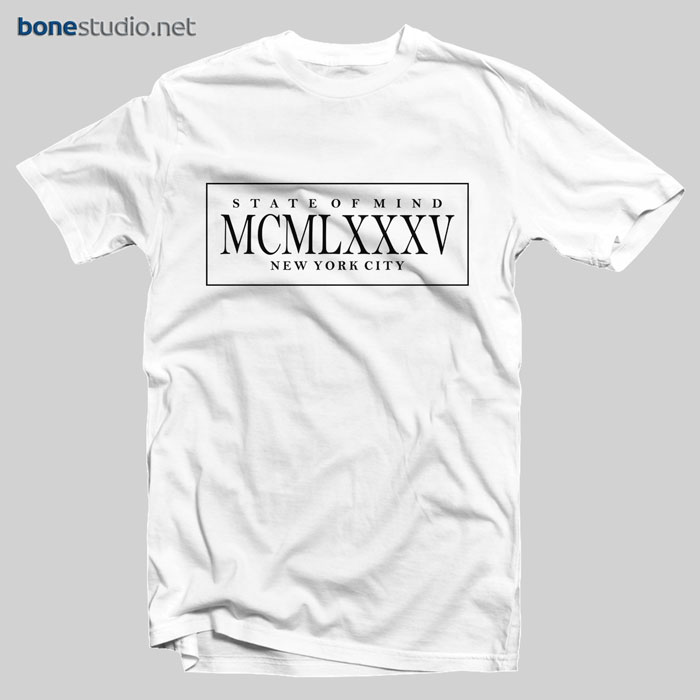 NYC T Shirt State Of Mind MCMLXXXV