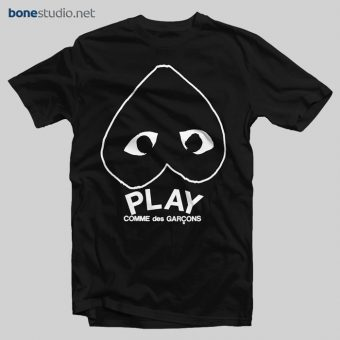 Play Inverted Heart Logo T Shirt