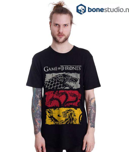 Game Of Thrones T Shirt Stark Targaryen Lannister 3 Sigils