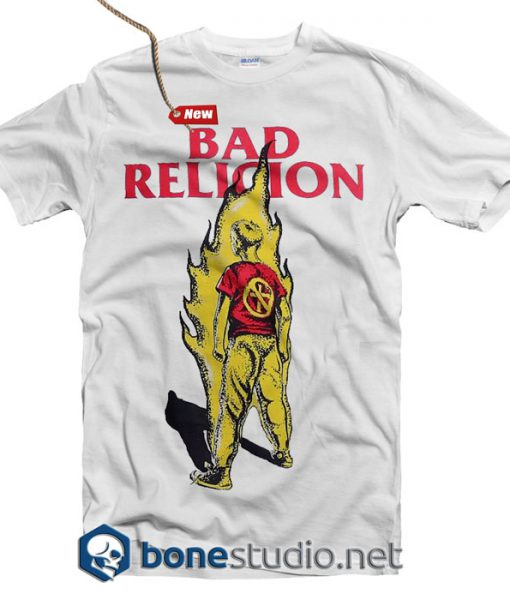 Bad Religion T Shirt Boy On Fire