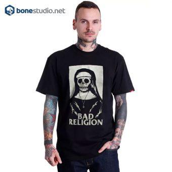 Bad Religion T Shirt Nun Skeleton