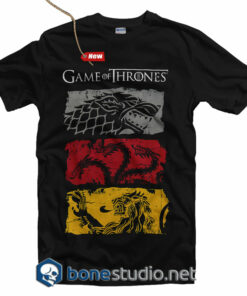Game Of Thrones T Shirt Stark Targaryen Lannister 3 Sigils