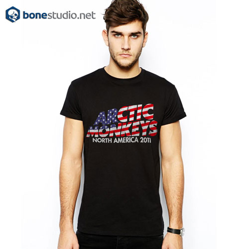 Stars And Stripes Arctic Monkeys Band T Shirt