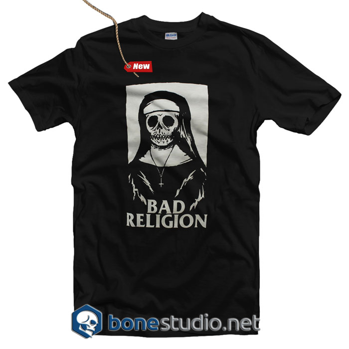 Bad Religion T Shirt Nun Skeleton