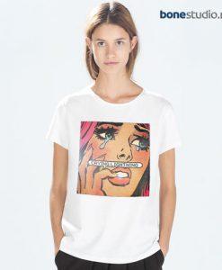Anime Girl Crying Lightning T Shirt