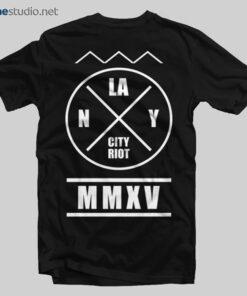 LA NY City Riot T Shirt