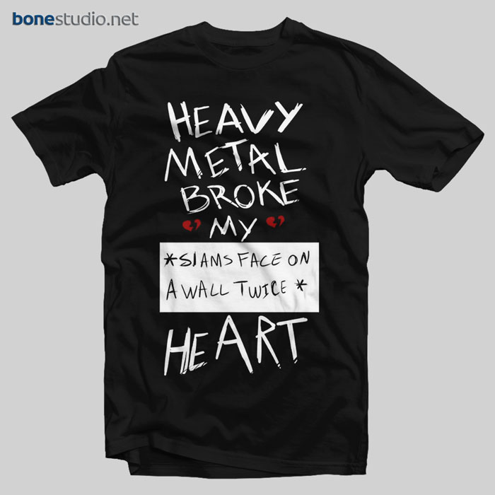 Fall Out Boy T Shirt FOB Heavy Metal Broke My Heart