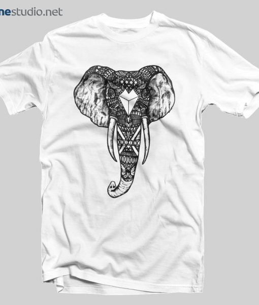 Ornate Elephant T Shirt