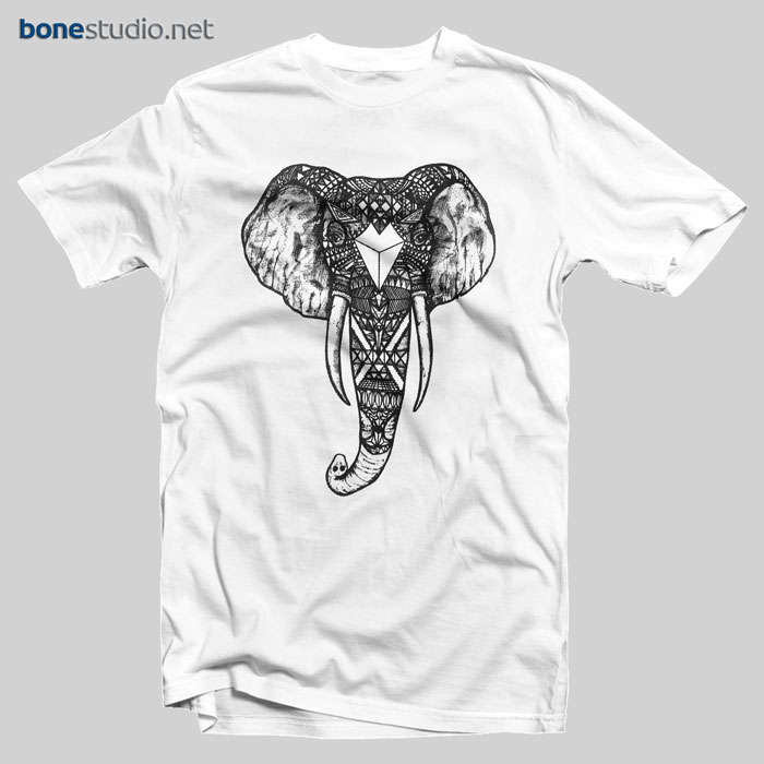 145c5bbe9be83 Ornate Elephant T Shirt - Adult Unisex Size S-3XL - Bonestudio