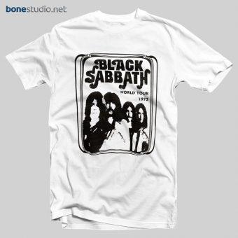 Black Sabbath T Shirt World Tour 1973