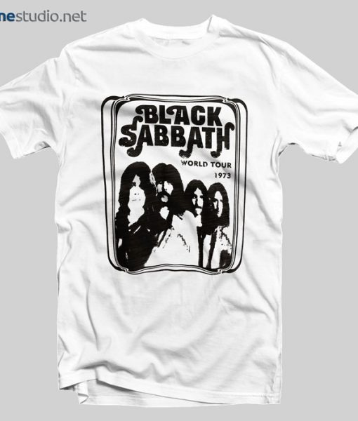 Black Sabbath T Shirt World Tour 1973