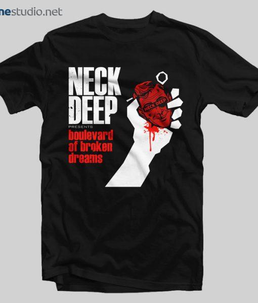 Neck Deep T Shirt Boulevard Of Broken Dreams