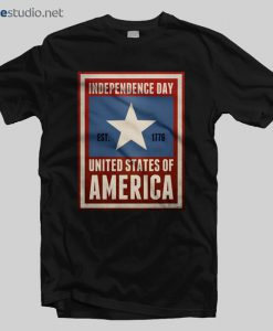 Independence Day T Shirt Est 1776 America