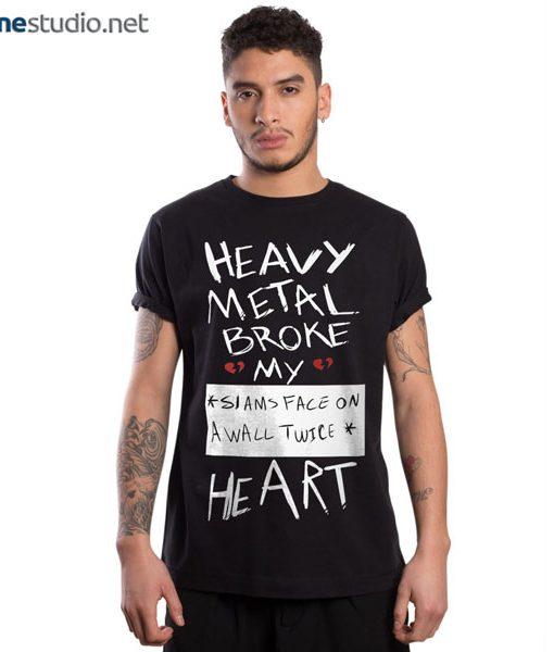 Fall Out Boy T Shirt FOB Heavy Metal Broke My Heart