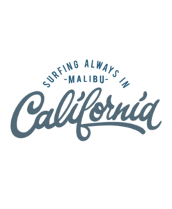 California T Shirt Surfing Always In Malibu