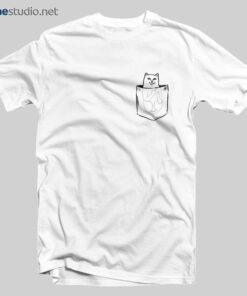 Cat T Shirt Middle Finger