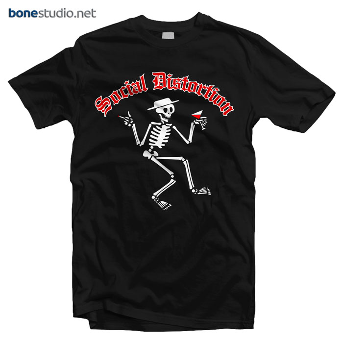 Social Distortion T Shirt Men's Skelly