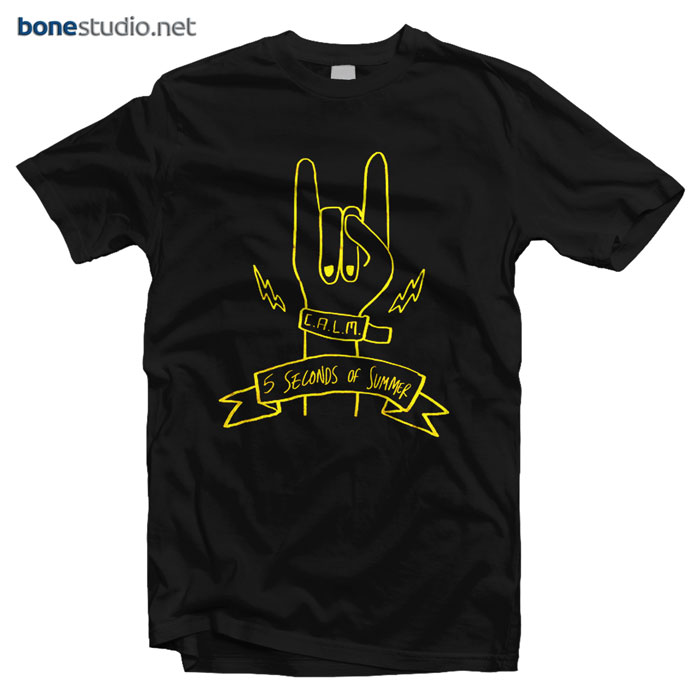 5 Second Of Summer T Shirt Rock Hands
