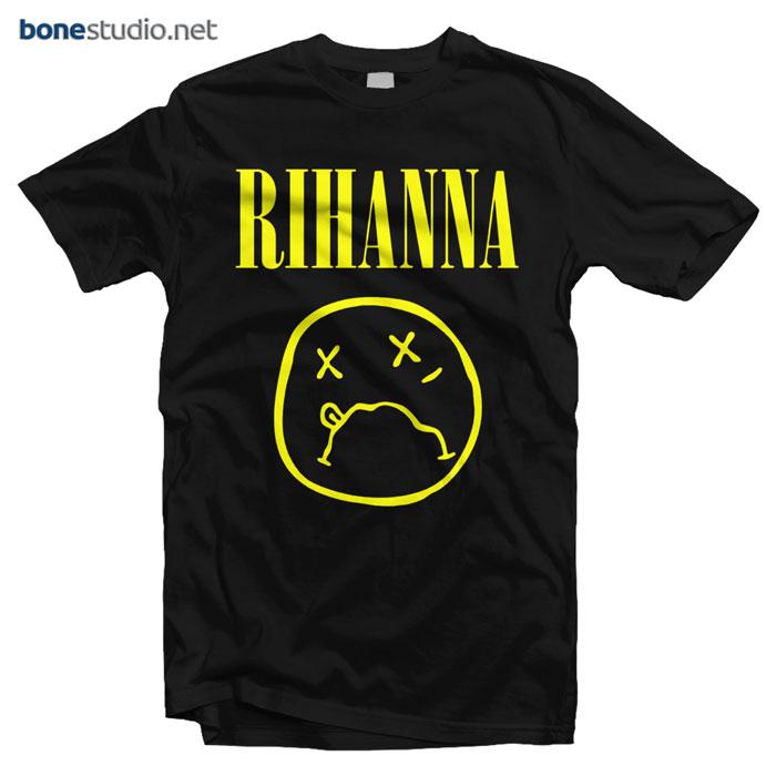 Rihanna T Shirt Nirvana