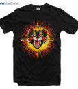 Love T Shirt Modern Future Angry Cat